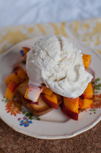 Pound Cake and Peaches Sundae 6