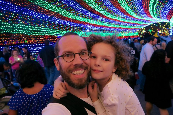 Jason and Anais on the trail of lights