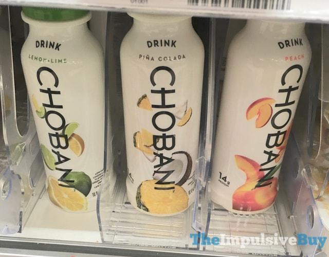 Chobani Drink (Lemon Lime, Pina Colada, and Peach)