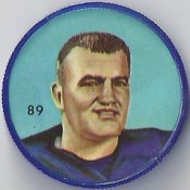 1963 Anonymous Back - No Brand (Bilingual) / Nalley's Potato Chips CFL Plastic Football Coin (blue cap) - CORNEL PIPER #89-NBB (Winnipeg Blue Bombers / Canadian Football League)