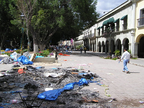 Oaxaca City Zocalo, June 2006