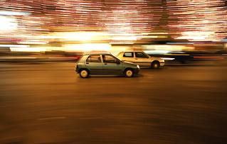 Car Race on Champs Elysées