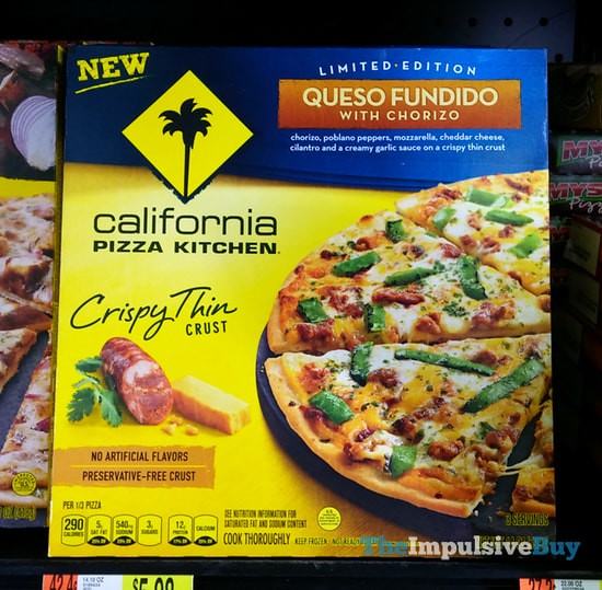 California Pizza Kitchen Limited Edition Queso Fundido with Chorizo Crispy Thin Crust Pizza