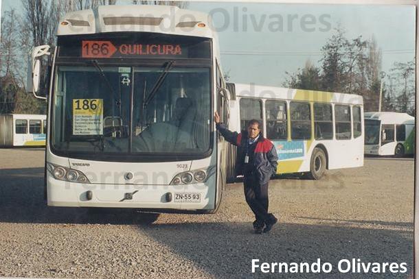Fernando Olivares y bus Subus