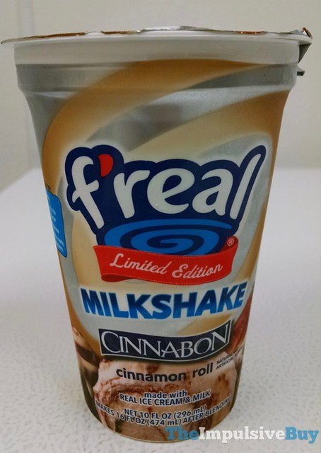 F'real Limited Edition Cinnabon Cinnamon Roll Milkshake