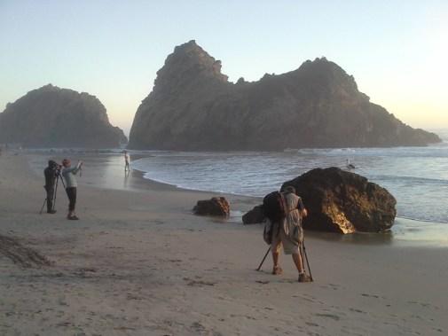 Bird Photographers at Pfeiffer Beach