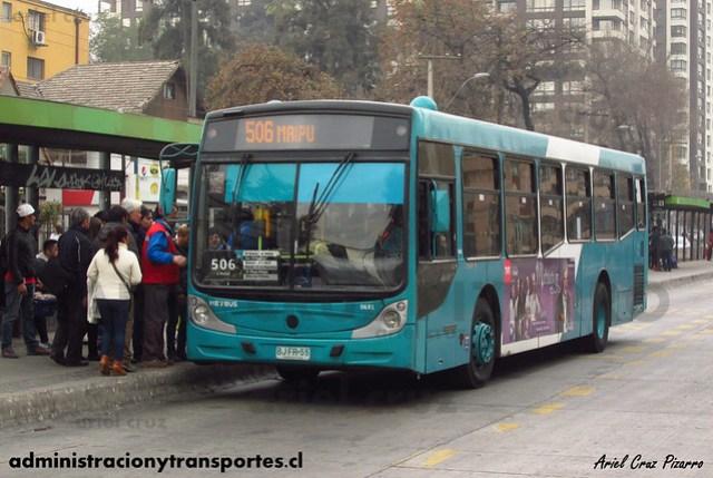 Transantiago - Metbus - Caio Mondego H / Mercedes Benz (BJFR55)