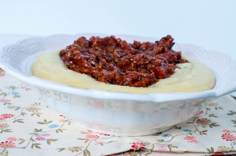 Simple Sausage Ragu over Polenta 6
