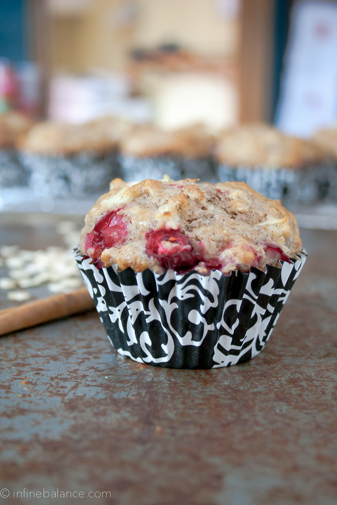 Cranberry Apple Muffins | www.infinebalance.com #recipe