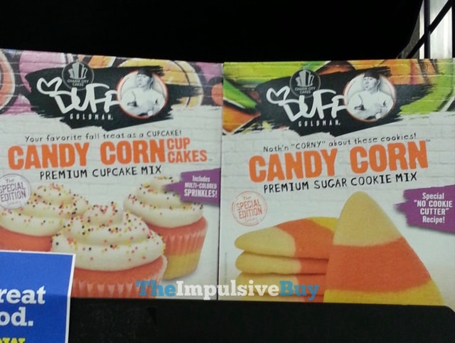Charm City Cakes Duff Goldman Candy Corn Cupcake Mix and Sugar Cookie Mix