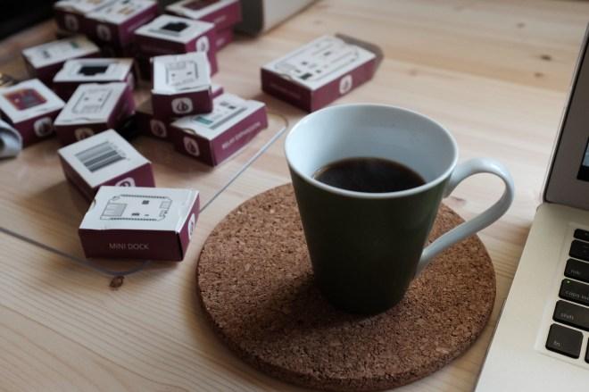 커피 완성