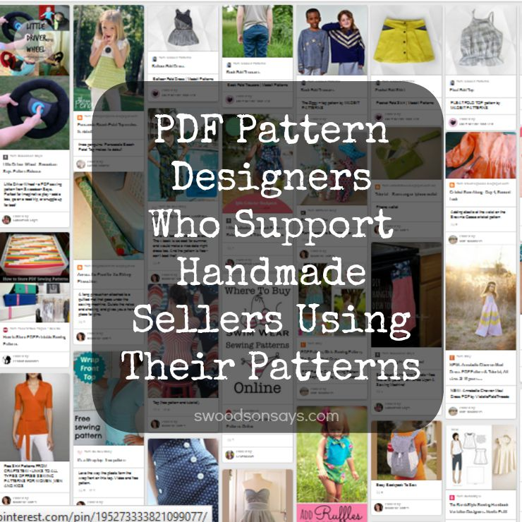 Pdf Sewing Pattern Designers Who Support Small Handmade Businesses