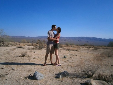 Kissing in Joshua Tree National Park