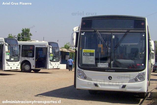 Transantiago - Buses Metropolitana / Metbus - Caio Mondego H / Mercedes Benz (BFKB65)