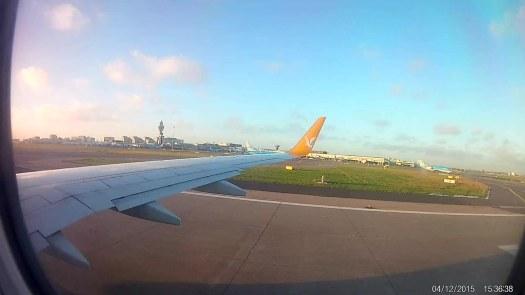Despegando en Schiphol con vista de Hoofdorp