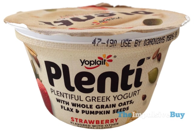 Yoplait Plenti Strawberry Greek Yogurt