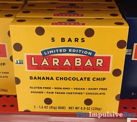 Limited Edition Larabar Banana Chocolate Chip Bars