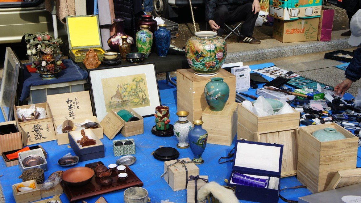 Antique Market at Yasukuni
