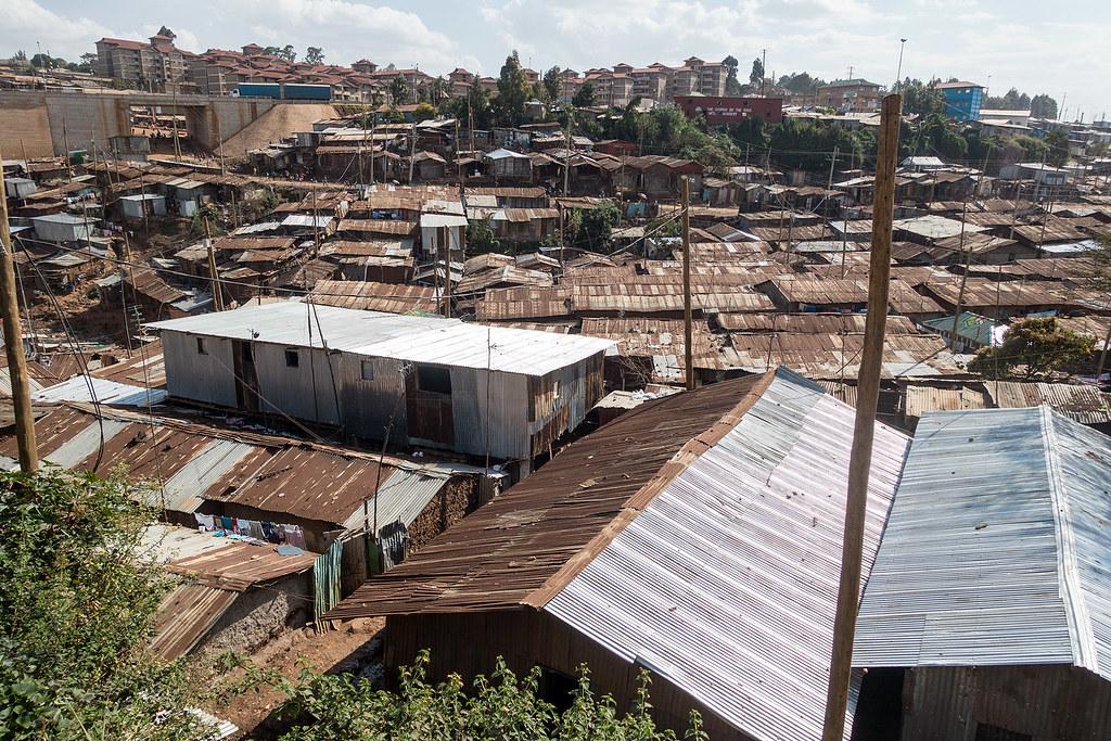 The Kibera Slum, Kenya