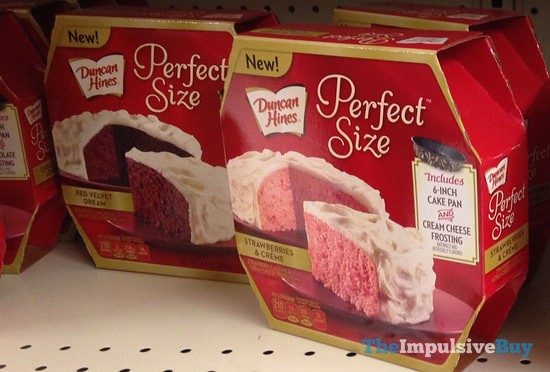 Duncan Hines Perfect Size Red Velvet Dream and Strawberries & Creme