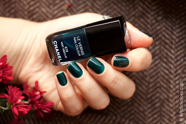 02 Chanel #679 Vert Obscur swatches by Ann Sokolova
