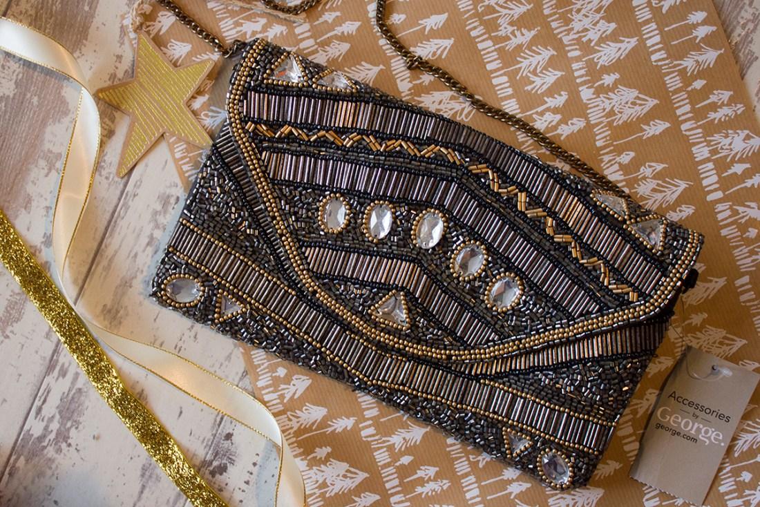 george-asda-embellished-clutch-bag