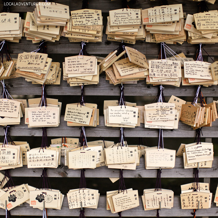 Write A Prayer at the Meiji Shrine Harajuku Tokyo Japan (13 Awesome Things to Do in Tokyo Japan).