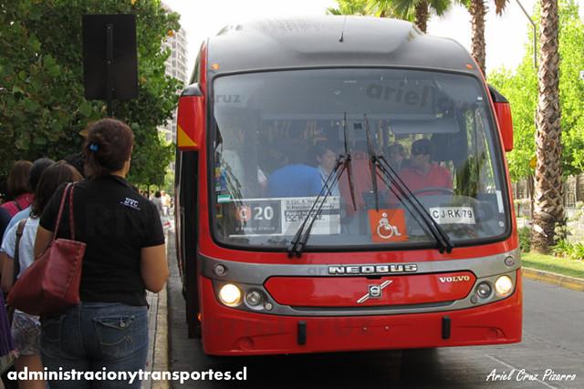 Transantiago - Redbus Urbano - Neobus Mega BRT / Volvo (CJRK79) (341)