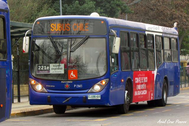 Transantiago - Subus Chile - Marcopolo Gran Viale / Volvo (CJRK99)