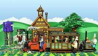LEGO Sunday Afternoon Tea Train to Tetley