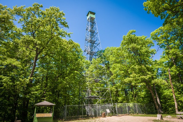 Look.  Out.  Aiton Heights Fire Tower in Itasca State Park