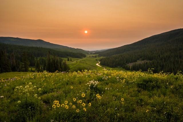 Flat Tops Wilderness - Morning Fire