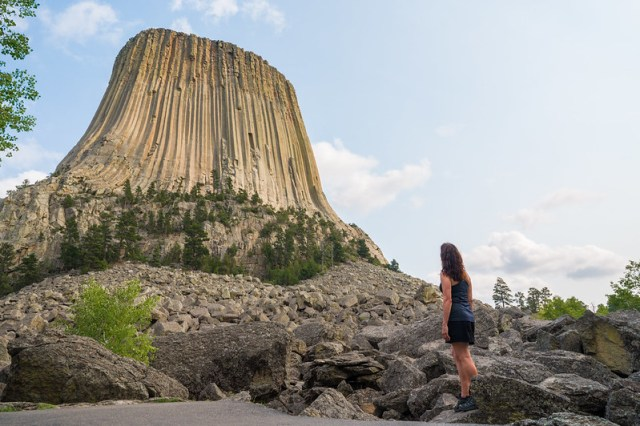 Looking Up at Devils Tower