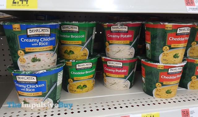 Bear Creek Hearty Soup Bowls (Creamy Chicken with Rice, Cheddar Broccoli, Creamy Potato, and Cheddar Potato)