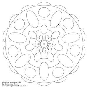 Mandala template 51