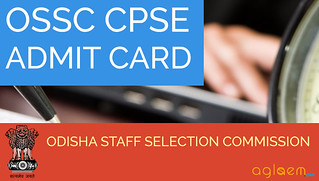 OSSC CPSE 2015 Admit Card Preliminary Exam