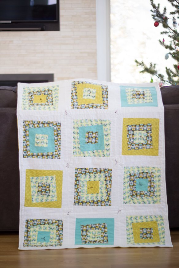 Forest friends flannel baby quilt pt. 2