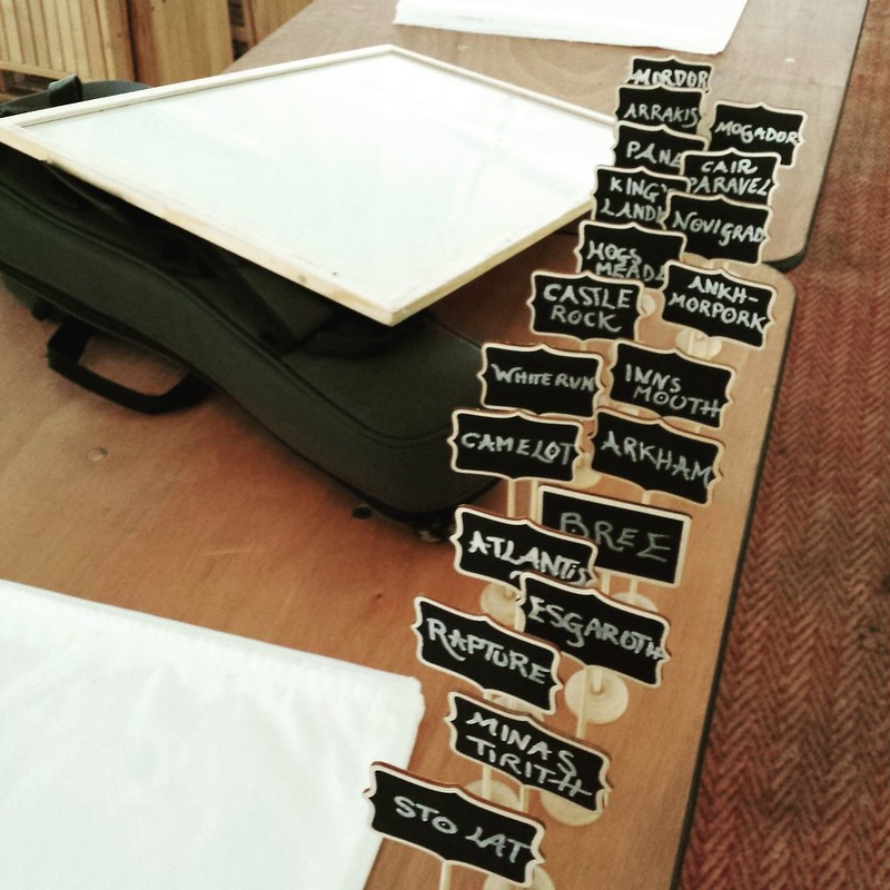 Chalkboard reception table names