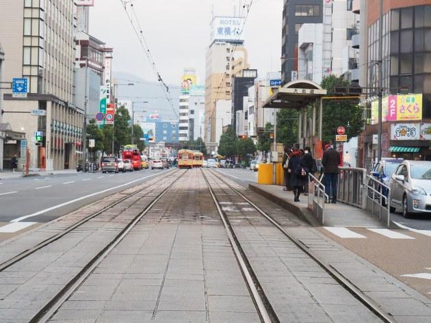 松山市電の駅「大街道」