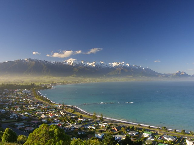 The Kaikoura township