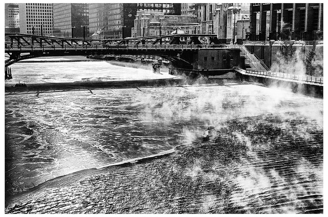 Steam Rising Beneath Washington Bridge
