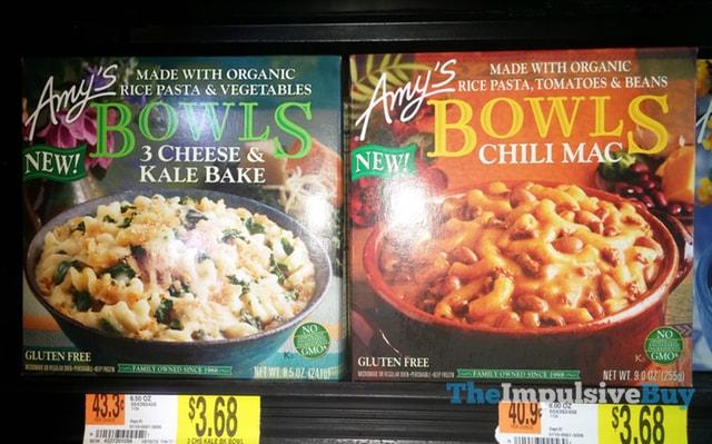 Amy's Bowls (3 Cheese & Kale Bake and Chili Mac)