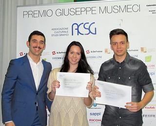Corrado Musmeci con i vincitori del primo premio del concorso
