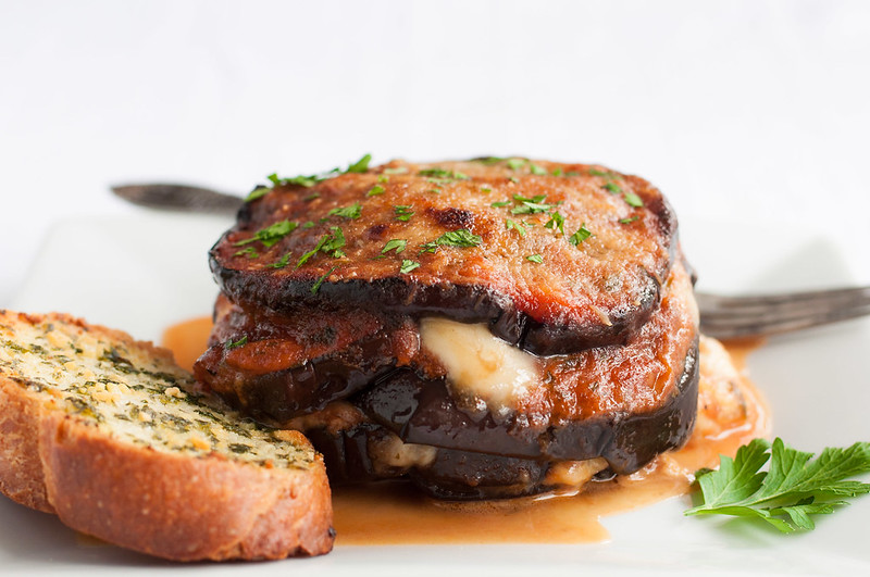 Gluten free eggplant parm bake