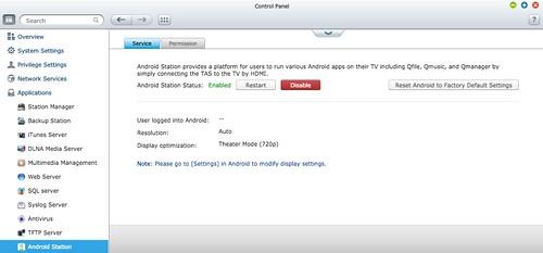 บริหารจัดการส่วน Android บางส่วนก็ทำได้จาก Android Station ใน QTS ได้เลย
