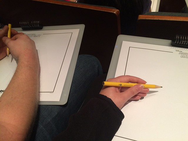 Getting ready to draw at Animation Academy!