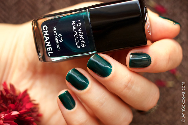 03 Chanel #679 Vert Obscur swatches by Ann Sokolova