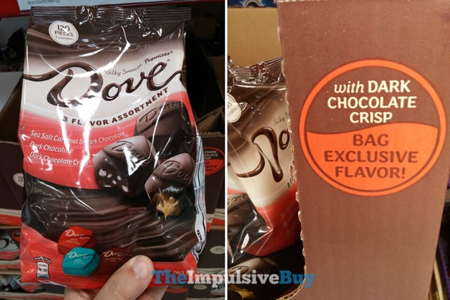 Dove 3 Flavor Assortments with Dark Chocolate Crispy Bag Exclusive Flavor