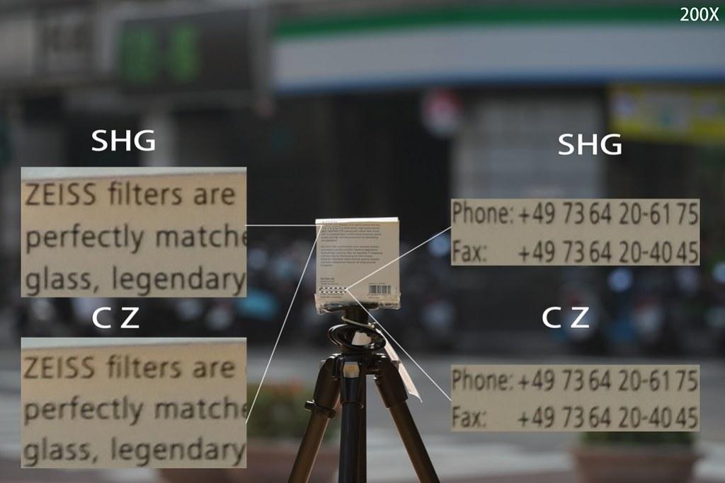逆光環境 SHG & CZ
