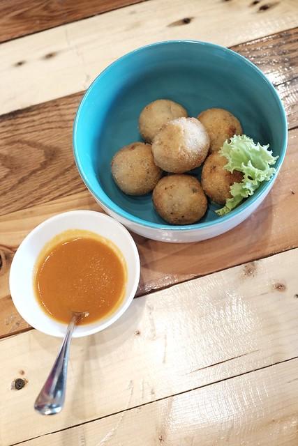Risotto balls at Earth Kitchen